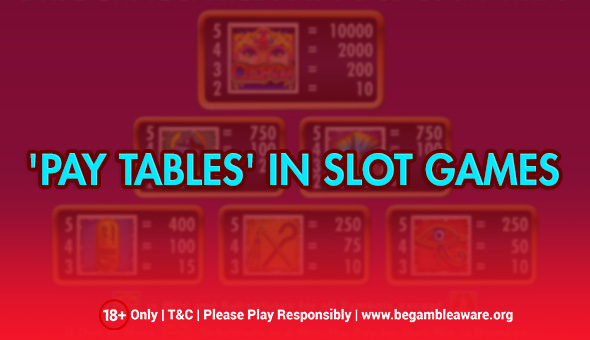 What Is The Role Of 'paytables' In Slot Games?